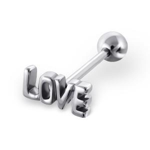 Piercing do jazyka činka 1,6x17 Love