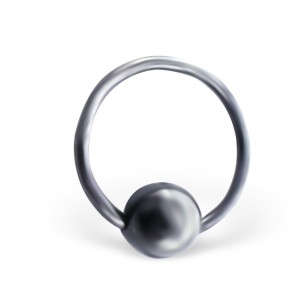 Piercing kroužek s kuličkou z titanu 1,0x10 (3571)