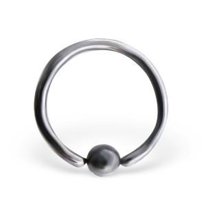 Piercing kroužek s kuličkou z titanu 1,0x10 (3574)