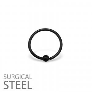 2x10 Piercing kroužek s kuličkou chirurgická ocel (33196)