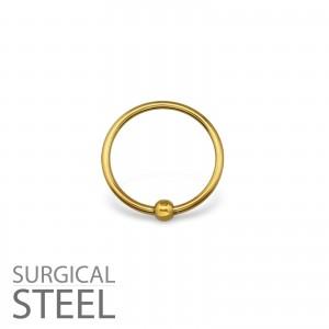2x10 Piercing kroužek s kuličkou chirurgická ocel (33195)