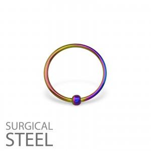 2x12 Piercing kroužek s kuličkou chirurgická ocel (33197)