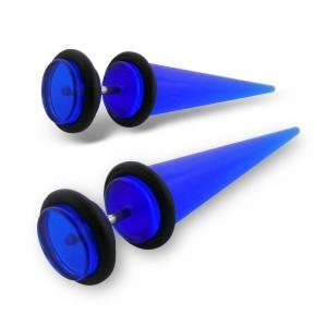 """Falešný akrylový plug """"Diva"""" modrý"""