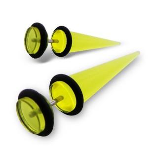 """Falešný akrylový plug """"Diva"""" žlutý"""