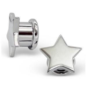 """Plug do ucha ocelový. """"Stříbrná hvězda"""" 12x13"""