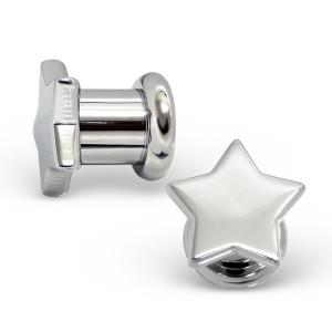 """Plug do ucha ocelový. """"Stříbrná hvězda"""" 6x13"""