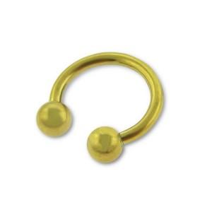 Piercing do rtu a brady, podkova 1,2 Gold plated (12661)