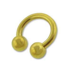 Piercing do rtu a brady, podkova 1,6 Gold plated (12661)