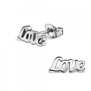 "11x5 Náušnice z chirurgické oceli ""Love"""