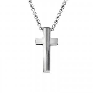 """Ocelový náhrdelník z chirurgické oceli """"Křížek"""""""